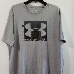 NWT Under Armour Boxed Logo T-Shirt Gray XL
